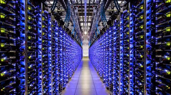 Ejemplo de servidores que minan bitcoins